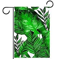 ホームガーデンフラッグ両面春夏庭の屋外装飾 28x40in,熱帯のヤシの葉