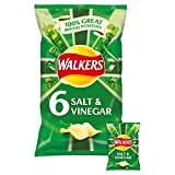 Walkers - Patatine gusto sale e aceto, 6 x 25 g