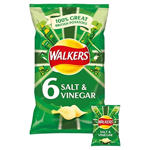 Walkers Salt and Vinegar Potato Chips 6 x 25g Dani store