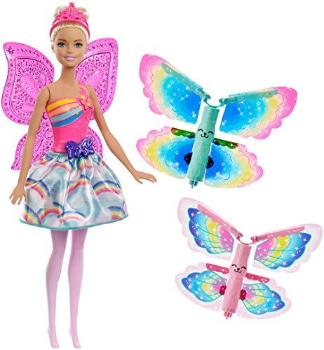 Barbie FRB08 Dreamtopia Regenbogen-Königreich Magische Flügel-Fee Puppe (blond)