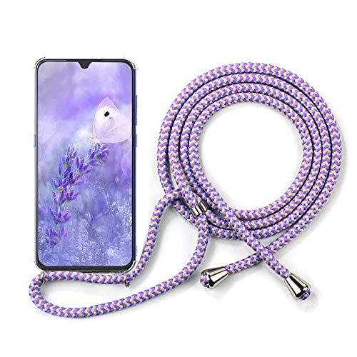 YuhooTech Handykette Handyhülle für Samsung Galaxy Note 10 Lite Hülle mit Kordel zum Umhängen Schutzhülle - Handy-Kette Handy Band Lanyard Silikon Cover - Schnur mit Case zum umhängen in Violett