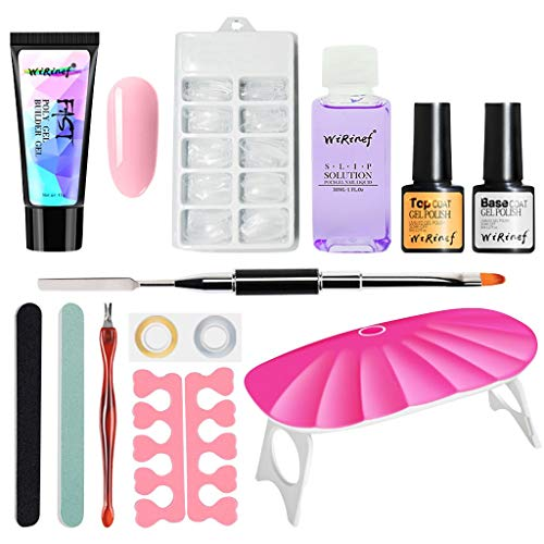 Nagel kunst benodigdheden Gel Nagel Pools Polygel Nagel Kit Duurzame Valse Nagels Vloeibare Double-end Nagel Penseel Pusher Nagel Bestand UV Lamp Dode Huid Set C