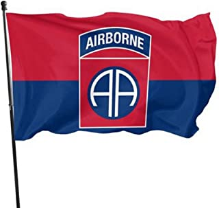 Wream Of The United States Army 82nd Airborne Division 3 x 5 Flag - Brass washer Vivid Color And UV Fade Resistance