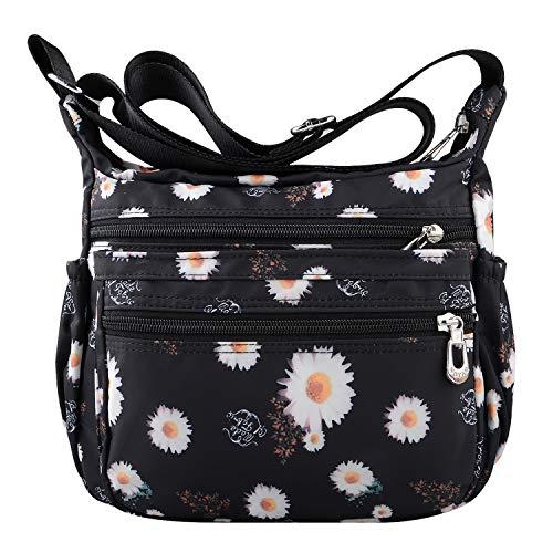 NOTAG Shoulder Bags for Women Nylon Crossbody Bags Waterproof Lightweight Messenger Purses and Handbags (T)