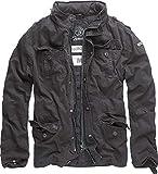 Brandit Vintage Mens Military M65 Short Army Combat Light Field Jacket Parka Black 3XL