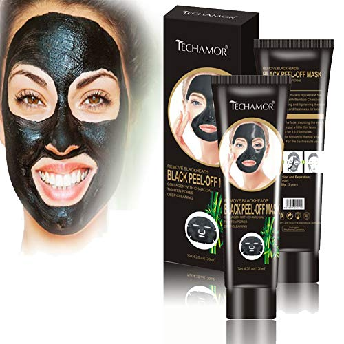 Black Peel Off Facial Mask, Bamboo Charcoal Peel-off Mask, Blackhead Remover Facial Mask, Moisturizing Shrink Pores, Skin Tightening Purifying, Face Oil Reducer Deep Cleaning Mask for Women And Men