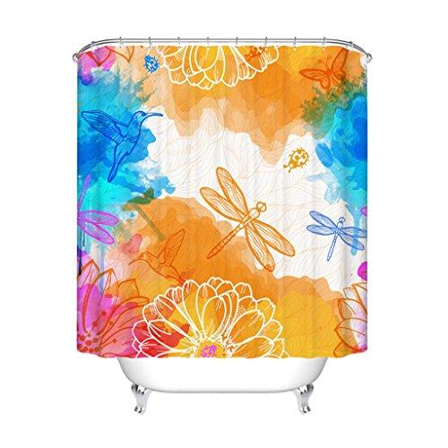 VAST decoratief douchegordijn, 160 cm x 180 cm lang, douchegordijn van polyester, waterdicht en wasbaar in de wasmachine 113