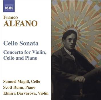 Alfano, F.: Cello Sonata / Concerto for Violin, Cello and Piano