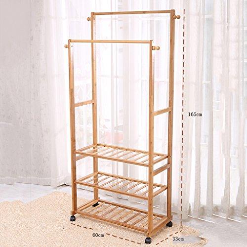NYDZDM - Perchero de bambú de estilo europeo para dormitorio de aterrizaje, estantes creativos para ropa móviles, perchas simples para interiores (color: # 1, tamaño: 60 cm)