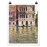 Bilderwelten Poster - Claude Monet - Palazzo Dario - Verticale 4:3, Carta Opaca 60 x 45cm