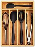 simpdecor Bandeja de bambú para cubiertos de cocina, organizador de cajones, 5...