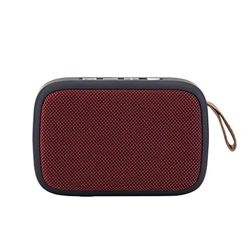 OPAKY Tragbarer drahtloser Bluetooth-Stereo-SD-Karte FM-Lautsprecher für Smartphone-Tablet-Laptop für iPhone, Samsung usw.