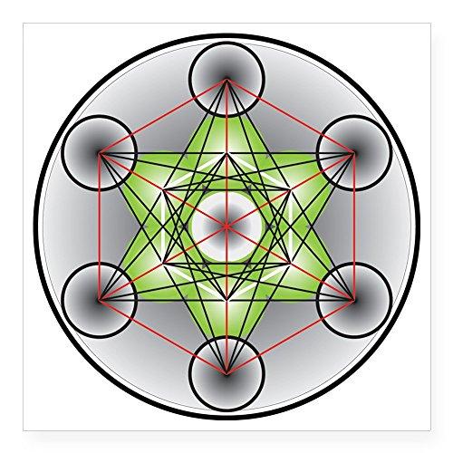 CafePress–Metatron Cubo de 'Diseño de cuadrado 3x 3–cuadrado pegatina para coche de...