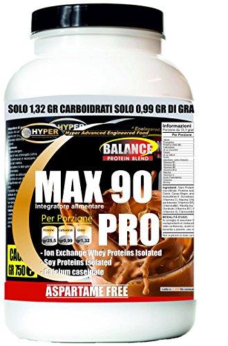 Frullati/Shakes Proteici Dimagranti | Sostitutivi del Pasto | Gusto Cacao Gr 750 | Dieta Proteica x Dimagrire | perdere peso| No Aspartame No Glutine | Con Vitamine | Max 90 Pro