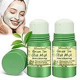 Green Stick Mask, Mascarilla de Limpieza Profunda, Mascarilla Purificadora de Té Verde para Control de Aceite Anti acné, Elimina eficazmente el acné, Purifica la piel, Mejora la sequedad de la piel