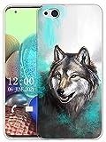 Sunrive Hülle Kompatibel mit ZTE Nubia Z9 Max Silikon, Transparent Handyhülle Schutzhülle Etui Hülle (X Wolf 1)+Gratis Universal Eingabestift MEHRWEG