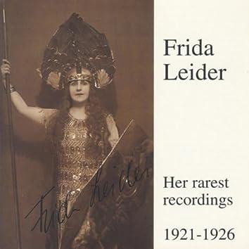 Frida Leider - Her Rarest Recordings 1921-1926