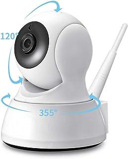 Cámara de Seguridad del hogar Dos Maneras de Audio inalámbrico Mini cámara de visión Nocturna WiFi cámara de bebé Monitor de bebé 115 * 93mm 1080P con Tarjeta 128G