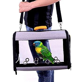 basisago Sac à Dos de Transport Cage à Oiseaux Transporteur d'oiseaux léger Bird Perroquet Carrier,Respirant 360°pour Animal Domestique Perroquet Sac de Voyage