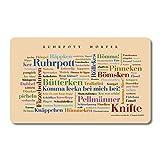 Tovaglietta per la colazione Ruhrpott Wörter, Tagcloud con belle parole dalla regione di Ruhrpott - Un'idea regalo originale e bella