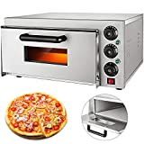 VEVOR 14'' Commercial Oven, 2200W Stainless Steel Commercial Pizza Oven,110V Countertop Electric Pizza and...