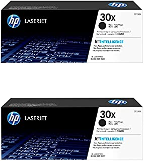 HP 30X (CF230X) Black Toner Cartridge, High Yield, 2-Pack