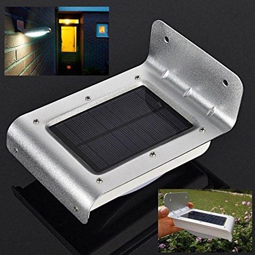 Bluelover Solar-energie Tuin Infrarood Sensor 16 witte LED-lamp Outdoor gazon wandlamp