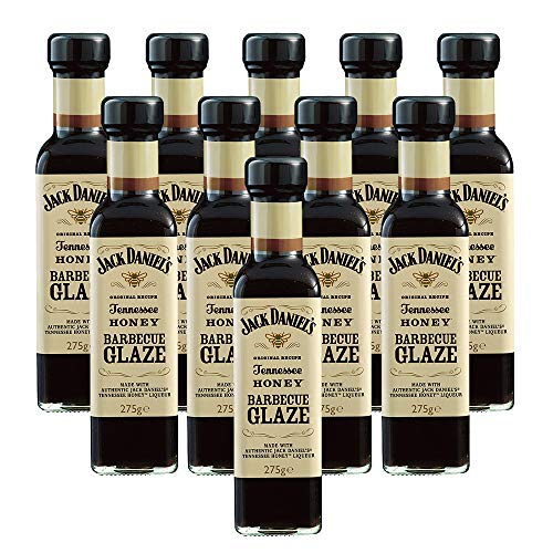 10er SET Jack Daniel's Tennessee Honey Barbecue Glaze BBQ Sauce 275 g / Grillsauce