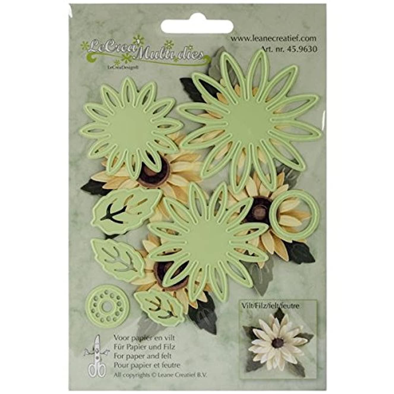 Ecstasy Crafts Cut and Emboss Dies, Daisy Flower and Leaves, Up to 2.625-Inch