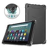 MoKo Funda Compatible con Amazon Kindle Fire 7 Tablet (9th Generation - 2019 Release), Material Suave TPU Transparente Flexible Trasera de Goma Esmerilada Compatible con Fire 7 2019 - Claro