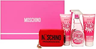 Moschino Fresh Pink Couture 4 Piece Gift Set with 3.4 Oz by Moschino NEW Women