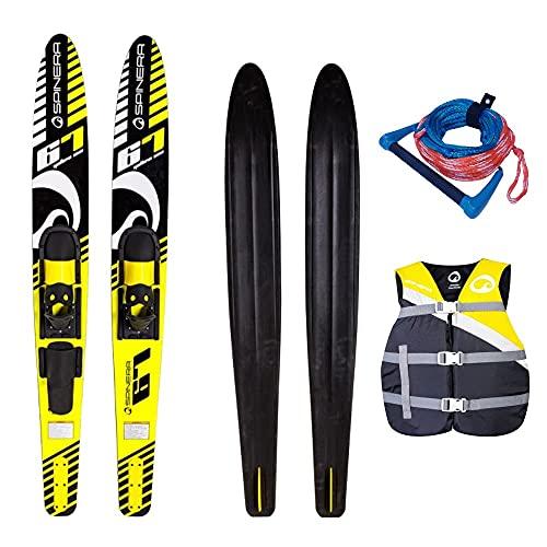Wassersport SPINERA Combo SKI Yellow Sea 67\'\' Package Wasserski Paarski Weste GELB