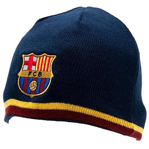 Officiel FC BARCELONA bourgogne et bande jaune Beanie Hat