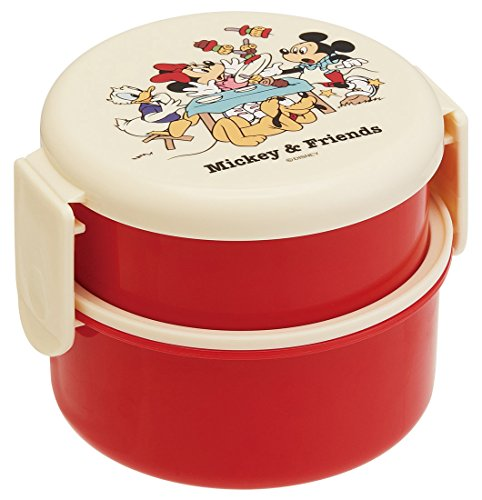 スケーター 丸型 ランチボックス 500ml ミッキーマウス フレンズ ピクニック ディズニー 日本製 ONWR1