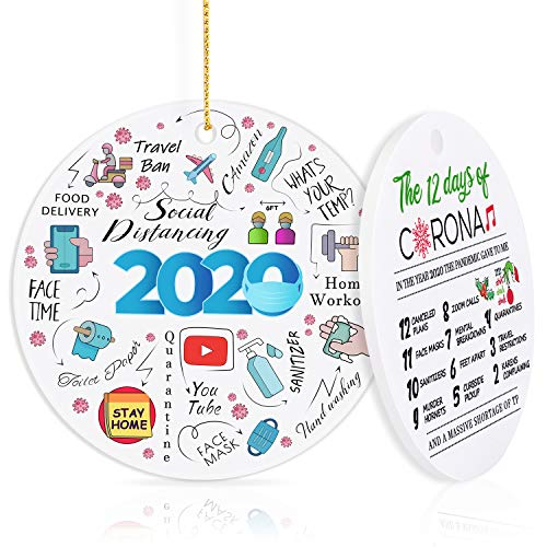 GoGreen Sprouter 2020 Christmas Ornaments, Christmas Decorations Clearance 2020 Quarantine Christmas Ornament Christmas 2020 Ornaments - Funny Home Decor