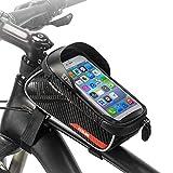 E-More Bolsas de Bicicleta, Bolsa Impermeable para Bicicleta, Bolsa Táctil de Tubo Superior Delantero para Auriculares para Teléfono Inteligente por Debajo de 6,5 Pulgadas