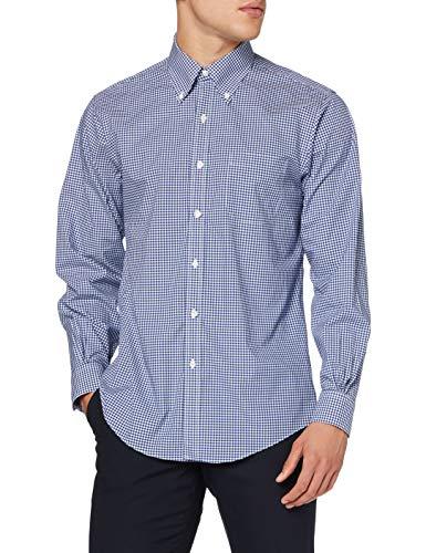 Brooks Brothers Herren Ds Og NI Sbclth Pbd Rgnt Freizeithemd, Blau (GingNavy 411), X-Large (Herstellergröße: 17 35)