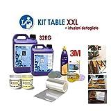Kit de epoxy Table XXL para crear La Mesa de madera y Resina Epoxi río con...