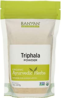 Banyan Botanicals Triphala Powder – Organic Formula of Amla, Haritaki & Bibhitaki – for Daily Detoxifying, Cleansing & Rejuvenation* – Maintains Regularity* – ½lb. – Non-GMO Sustainably Sourced