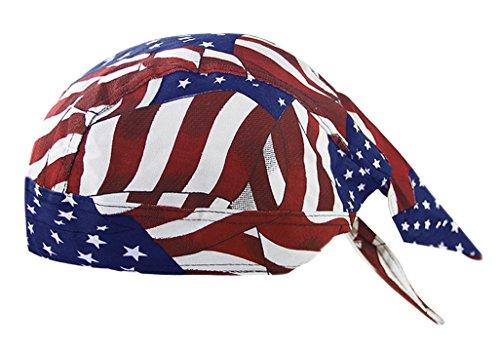 RUIXIB Bandana Cap Sports Kopfbedeckung Drucken Piratenmütze Street Dance Mütze Unisex Outdoor Fahrrad Kopftuch Atmungsaktive Baumwolle Kopftuch reiten für Herren Damen - 2