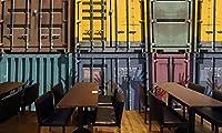 写真の壁紙レトロなコンテナー機能バーの背景の壁リビングルームの壁の芸術の壁の装飾の家の装飾のための大きな壁壁画シリーズの壁紙-118.2x82.7inch/300cmx210cm