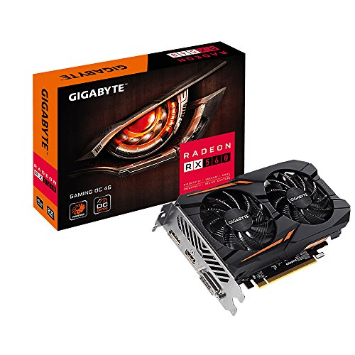 GIGABYTE Radeon RX 560 Gaming OC 4GB DVI-Dx1 HDMI(Gold Plated) x1