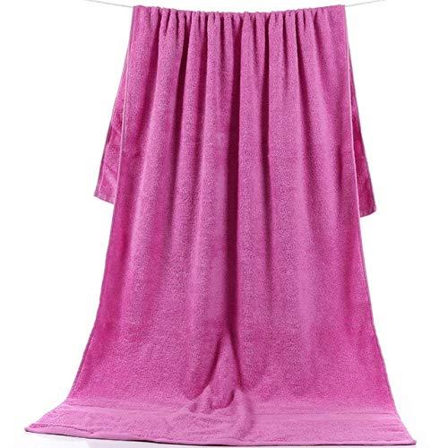 Xiaobing Toalla de baño Gruesa Grande de 90 * 180 cm Toalla de baño de algodón Puro para Adultos Multicolor -Purple-90x180cm