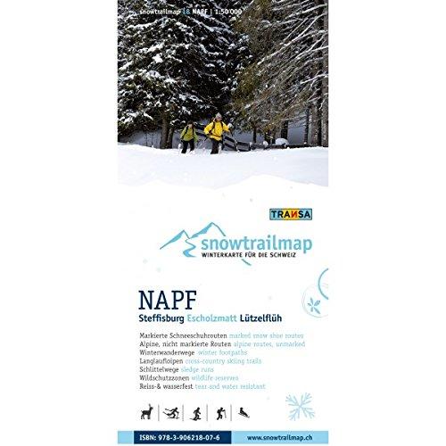 Snow Trail Map 18 Napf, Steffisburg, Escholzmatt, Lützelflüh, Willisau, Langnau Snowtrailmap / Schneeschuhtourenkarte 1:50.000