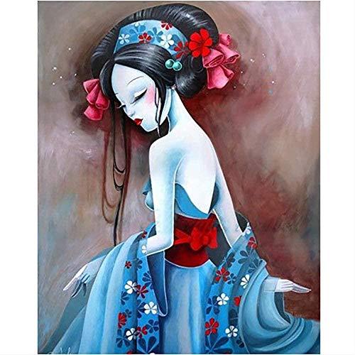 Pintura de diamante pintura de bricolaje taladro cuadrado completo hecho a mano 5D disfraz antiguo chica arte de pared decoracin del hogar imagen de bordado punto de cruz