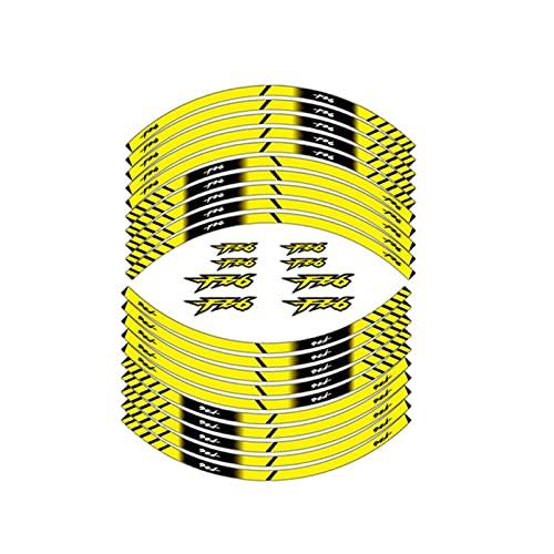 bazutiwns Accesorios de Carreras de Motocicletas Pegatinas de neumáticos Rueda Interna Decoración Reflectante Calcomanías compatibles con Yamaha FZ6 HSLL (Color : 180594)