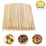 SRXING Bamboo Skewers,Kebab Sticks,Wooden Skewers,Skewer Sticks,Short Skewers,Wooden Kebab Skewers...