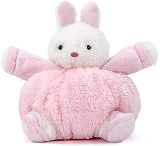 Small Bunny Decorations Cute Soft Rabbit Plush Fat Sitting Handmade Easter Decor Crafts Pink
