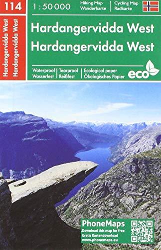 Hardangervidda West, Wander - Radkarte 1 : 50 000 (PhoneMaps Wander - Radkarte Norwegen)