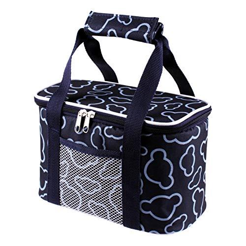Ousuga Bolsa de picnic fresca, bolsa de almuerzo de 10 l, impermeable, bolsa de picnic, plegable, aislante, a prueba de fugas, para viajes, camping, barbacoa, familia, actividades al aire libre